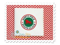 Santa Claus Circle Applique for machine embroidery