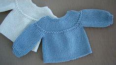 Dos agujas: chaquetita para bebé (Parte 2) - YouTube
