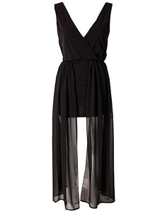 DRESS - PEARL / VAMP MESH CONTRAST DRESS