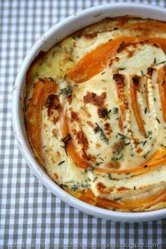 Kartoffel-Kürbis-Feta-Gratin - klingt sehr einfach und sooo lecker!