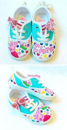 5366b960a77 Custom Peppa Pig canvas shoes