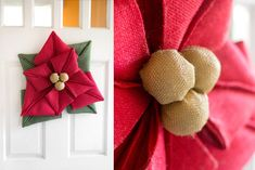 Burlap sunflower wreaths are very popular so why not make a burlap flower for every season? These burlap flowers are perfect for hanging on the front door. Easy Burlap Wreath, Sunflower Burlap Wreaths, Burlap Wreath Tutorial, Burlap Crafts, Burlap Flowers, Wreath Crafts, Diy Wreath, Cloth Flowers, Fabric Flowers