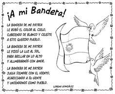 Dibujos para pintar: Poesía día de la bandera Argentina