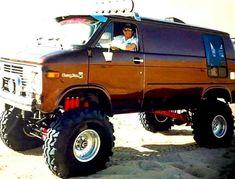Custom VANS natural BABES & other bad ass transportation. Gm Trucks, Diesel Trucks, Jeep Truck, Lifted Van, Chevrolet Van, 4x4 Van, Old School Vans, Vanz, Cool Vans