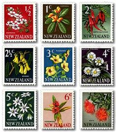 New Zealand Stamp New Zealand Art, Kiwiana, Flower Stamp, Reptiles And Amphibians, Small Art, My Childhood Memories, Stamp Collecting, Old Toys, Botanical Art