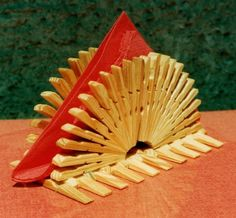 Decorative Clothespeg Napkin Holder - Wooden Clothespin Table Napkin Holder…