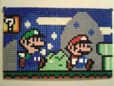 Mario World - Mario and Luigi hama beads by Anja Rattasepp
