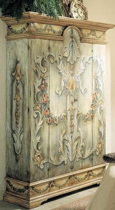 Stylish wardrobe drawings Francesco Molon french italian country. | Painted furniture Ideas | Decorative Paint Idea | Stenciled furniture paint ideas