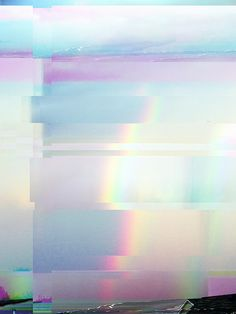 Data-Bending the Rainbow - 2009 - Travis Morgan photography - https://www.flickr.com/photos/morgantj/3971179488/ Glitch Art, Pastel Rainbow Background, Rainbow Pastel, Vaporwave, Collages, Distortion, Illustration, Anniversary Ideas, Textures Patterns