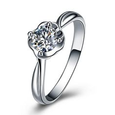 925 Sterling Silver Jewelry Elegant Fashion Ring Roses Platinum Plating Simulation Diamond Ring Lord of the Rings Online with $25.13/Piece on Liu_5181's Store   DHgate.com