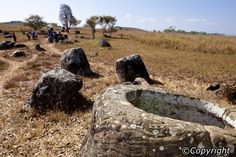 Sightseeing in the Plain of Jars (Sites I and II) and Muang Khoun   Spend the day visiting the famous PLAIN OF JARS, a vast area extending around Phonsavanh from the south-west to the north-east. Mysterious and ancient, over 300 huge stone jars apparently carved out of solid rock are scattered around the plateau. The jars vary in size from 1 to 3.25 meters high and weigh up to six tons each.