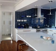 Blue and White Kitchen Ideas_35