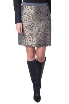 Foley Skirts Corinna Brown Black Gathered Detail Mini Skirt Size Small Women's Clothing
