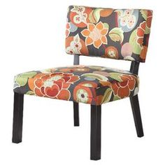 Coraline Accent Chair...This is the same pattern we choose for Boones Farm living room decor chair. I had throw pillows made too for the couch. Cool!