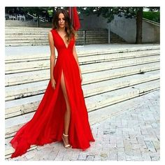 Red dress outfit wedding ❤ liked on Polyvore featuring dresses and wedding dresses