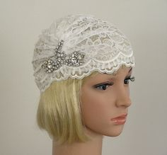 Bohemian Style Juliet Cap White Vintage Trim by oldintonewcouture, $75.00