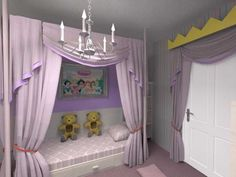 room of 5 year old girl, Little Princess room for a 5 year old Walt Disney Princess Fan, Girls Rooms Design