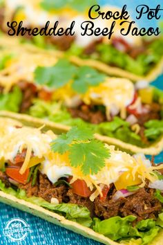 Love these awesome crock pot shredded beef tacos!