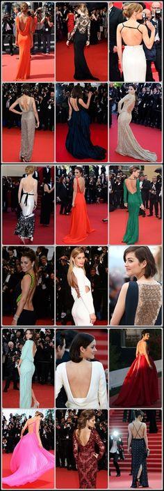 #Tendencia muy importante en el #Festival : #escote a la #espalda en los #vestidos de la #alfombra #roja de #cannes 2013