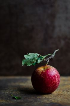 This photo uses the rule of thirds for the apple. I appreciate the contrast between the colors in the apple and the dark background.