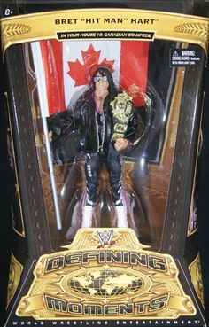 WWE Defining Moments Bret Hart - 1997 Stampede Collector Figure Series #5 by Mattel. $23.99. From the Manufacturer                World Wrestling Entertainment Defining Moments Figure Collection: Bring home the officially licensed WWE action. Extreme details make the Defining Moments collection the one collector's will go wild over. Made for the ultimate fan, these figures feature authentic, elite-level detailing, superior articulation and some of the highest ...