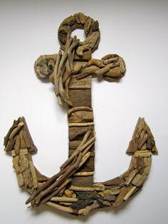 Wooden Anchor Wall Decor wood anchor / anchor wall decor /coastal | anchor wall decor and