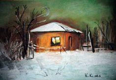 K.Kivés Art - Képgaléria - Kedvenc képeim Techno, Cabin, House Styles, Painting, Home Decor, Homemade Home Decor, Cabins, Painting Art, Paintings