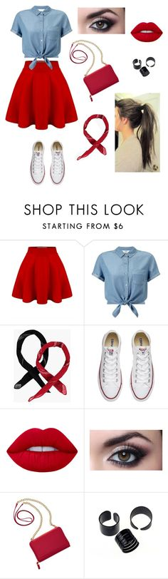 """Untitled #156"" by luke-is-a-penguin96 ❤ liked on Polyvore featuring Miss Selfridge, Boohoo, Converse, Lime Crime and TravelSmith"