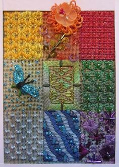 Sundance Designs needlepoint collage