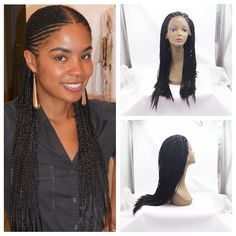 64.99$  Buy now - http://alirbw.worldwells.pw/go.php?t=32683307618 - 150% density no tangle no shedding twist braided synthetic wig micro braided synthetic lace front wig for black women