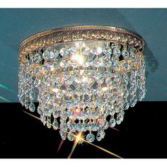 Found it at Wayfair - Crystal Baskets Light Semi-Flush Mount
