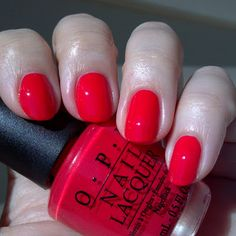 "OPI - Red Lights Ahead... Where? ""C'mon...it was more of a 'burnt amber.'"" (you know who you are. ^_^)"
