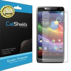3X Calishieldz HD Screen Protector MOTOROLA Luge Verizon (Lifetime Warranty)