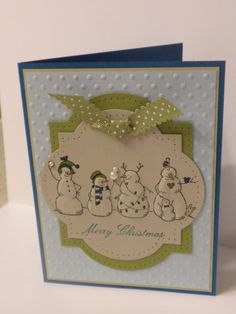 Frosty Friends Stylus Embossed from back side of card stock to make them puff!
