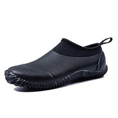 """Attention: Make sure purchased is based on our """"Product Description"""" size chart.These shoes run a tad large,if you unsure,please order half size down.High t… Mens Rain Boots, Waterproof Shoes, Wellington Boot, Water Shoes, Unisex, Types Of Shoes, Black Boots, Rubber Rain Boots, All Black Sneakers"""