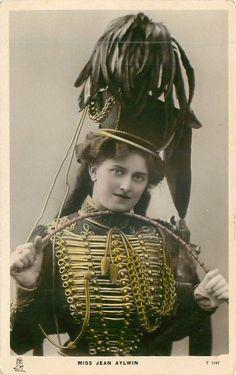 Miss Jean Alwin: England, 1903 Military Looks, Military Women, Military Fashion, Old Photos, Vintage Photos, Vintage Circus, Vintage Burlesque, Circus Costume, Uniform Dress