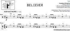 Believer – Imagine Dragons – Drum Sheet Music | OnlineDrummer.com