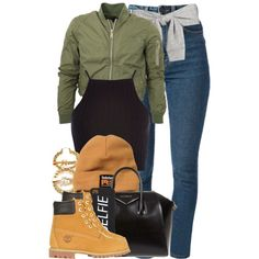 A fashion look from December 2014 featuring River Island tops, Yves Saint Laurent jeans and Timberland boots. Browse and shop related looks.