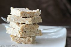 These no-bake coconut crispy treats are a healthy snack for both kids and adults.