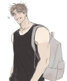 Twitter Handsome Anime Guys, Hot Anime Guys, Guy Drawing, Character Drawing, Manga Art, Anime Art, 19 Days Anime, Anime Poses Reference, Estilo Anime