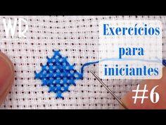 2 exercícios para INICIANTES #6 - Ponto Cruz avesso PERFEITO