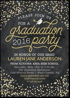 15 best graduation party invitation wording ideas party honor all their achievements with a sparkling graduation party invitation filmwisefo Choice Image