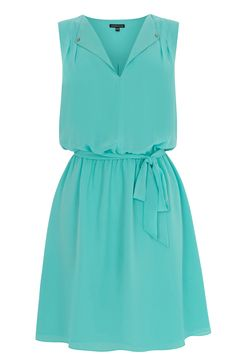 Buy Warehouse Open Neck Skater Dress, Mint from our Women's Dresses Offers range at John Lewis & Partners. Going Out Dresses, Pretty Dresses, Dresses For Work, Blue Green Dress, Studded Dress, Latest Fashion Clothes, Fashion Styles, Skater Dress, Casual Dresses