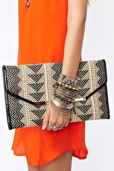 Woven Envelope Clutch | Shop What's New at Nasty Gal