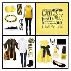 """""""Hufflepuff outfits"""" by ywvalues ❤ liked on Polyvore featuring Frame Denim, Steffen Schraut, Ström, Rupert Sanderson, Charlotte Olympia, Machi, Bling Jewelry, Vans, Eos and CellPowerCases"""