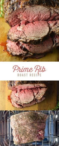 Classic Prime Rib or Standing Rib Roast is a fabulous choice for the holidays or special occasions and it's easier to prepare than you think. Rib Roast Recipe, Prime Rib Recipe, Roast Beef Recipes, Chicken Recipes, Beef Dishes, Food Dishes, Main Dishes, Food Food, Standing Rib Roast