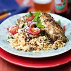 Spiced Chicken with Lentils