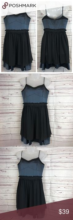 """BCBGeneration Blue & Black Bustier Evening Dress Brand New with Tags Tag Size 10 Shell: 97% Polyester & 3% Spandex, Lining: 100% Polyester, Machine washable Approx. measures: Chest (armhole to armhole) 34"""" - Waist 29"""" - Length (center back to hem) 26"""" Ships within 1 business day Thanks for stopping by and checking out my closet!  0200-040518 BCBGeneration Dresses Wedding"""