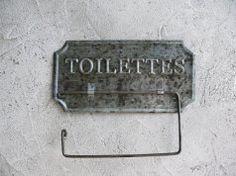Support papier toilettes zinc, déco brocante, Antic Line