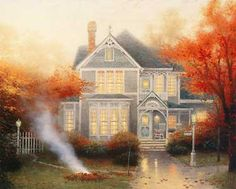 Amber Afternoon - Thomas Kinkade - World-Wide-Art.com